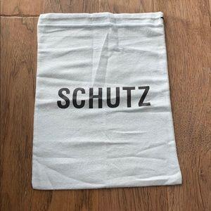 SCHUTZ Designer Cloth Dust Bag White Authentic